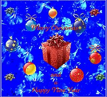 Christmas and New Year Card in Blue by MidnightMelody