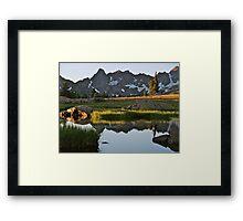 August - Gore Range lake Framed Print