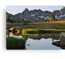 August - Gore Range lake Canvas Print