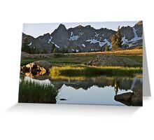 August - Gore Range lake Greeting Card