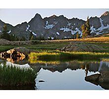 August - Gore Range lake Photographic Print