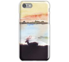 Impala in an African landscape iPhone Case/Skin