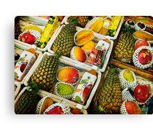 Tropical Fruit Basket Canvas Print