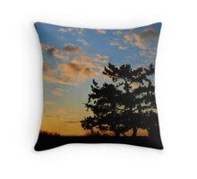 The Sunset Tree Throw Pillow