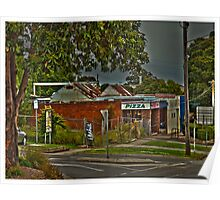 Old shops main street drouin Poster