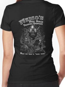 Nemo's Deep Ocean Trading Company Women's Fitted V-Neck T-Shirt
