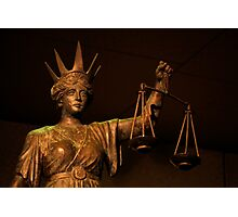 The Scales of Justice Photographic Print