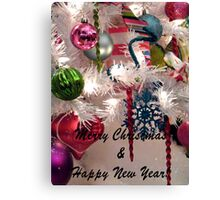 Ornaments Christmas Card Canvas Print