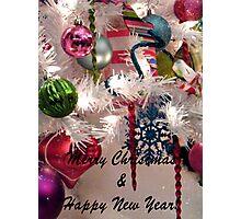 Ornaments Christmas Card Photographic Print