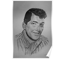 """Dean Martin """"King of Cool"""" - Pencil Sketch Poster"""
