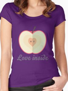 Love inside Women's Fitted Scoop T-Shirt