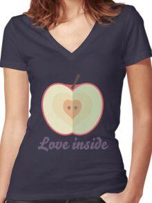 Love inside Women's Fitted V-Neck T-Shirt