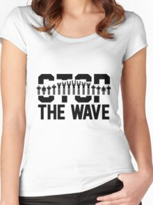 Stop the Wave Women's Fitted Scoop T-Shirt
