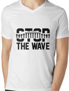 Stop the Wave Mens V-Neck T-Shirt
