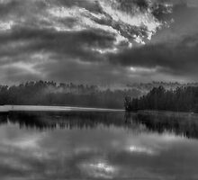 Embers Of Our Souls - Narrabeen Lakes (B&W)  - The HDR Experience by Philip Johnson