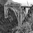 The Famous Bixby Bridge in Black and White by GreenSaint