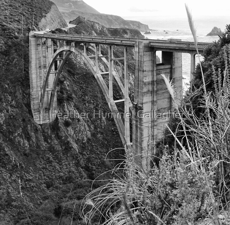 The famous bixby bridge in black and white framed prints for Black and white celebrity prints
