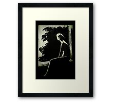 Lady alone Framed Print