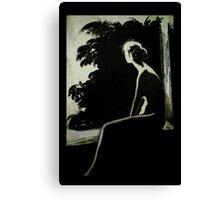 Lady alone Canvas Print
