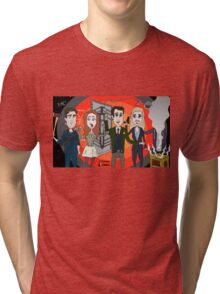 The Librarians as Live Looney Tunes from Raiders of the Lost Ark in the Twilight Zone Tri-blend T-Shirt