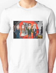 The Librarians as Live Looney Tunes from Raiders of the Lost Ark in the Twilight Zone Unisex T-Shirt
