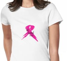 So Loved Be Healed Breast Cancer Awareness Womens Fitted T-Shirt