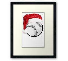 BASEBALL CHRISTMAS Framed Print
