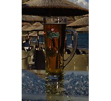 Mythos - Crystal Clear Beer Photographic Print