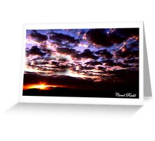 Mead Sunset Greeting Card
