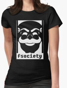 MrRobot TV Series Banksy Fsociety Womens Fitted T-Shirt