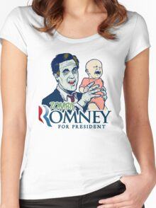 Zombie Romney For President Women's Fitted Scoop T-Shirt