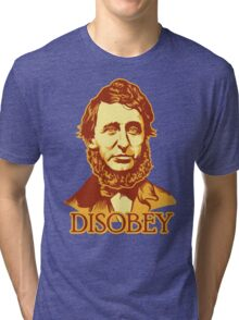 Henry David Thoreau Disobey Tri-blend T-Shirt