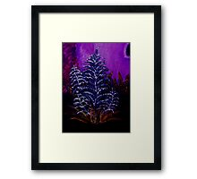 Small plant oil painting Framed Print