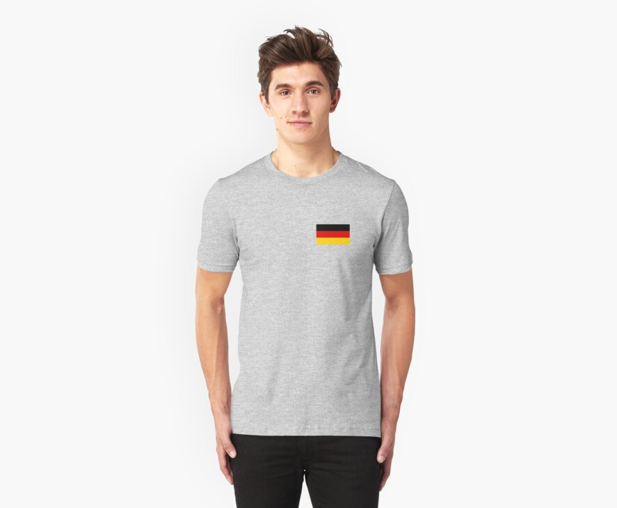 Germany World Cup Flag - Deutschland T-Shirt by deanworld