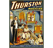 Thurston the great magician 1914 Vintage Poster Photographic Print