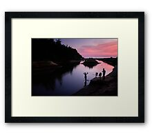Fishermen at work Framed Print