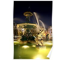 Lisbon Fountain Poster