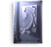 3d oil painting with lighting effect Canvas Print