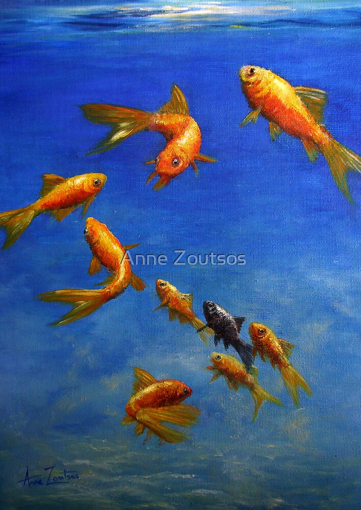 Feng Shui Fish by Anne Zoutsos
