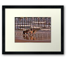 Racing the Tide Framed Print