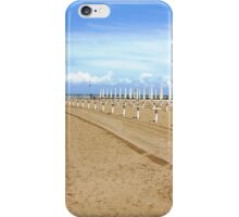 umbrella stand on the beach iPhone Case/Skin