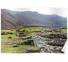 Hardknott Roman Fort, Eskdale, Cumbria Poster