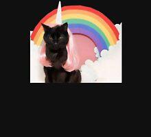 Unicorn Rainbow Cat Kitten Grumpy Unisex T-Shirt