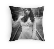 Amanda Tapping in White Throw Pillow