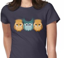THREE LITTLE OWLS Womens Fitted T-Shirt