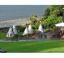 Waves and Teepees Photographic Print