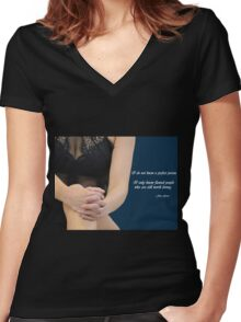 Flawed People Women's Fitted V-Neck T-Shirt