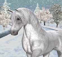 Winter Snow .. the tale of a wild horse by LoneAngel