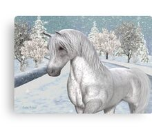 Winter Snow .. the tale of a wild horse Metal Print