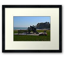 Cannon by the Lake Framed Print